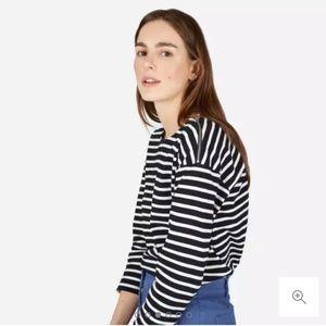 NWOT Everlane Breton striped shirt zip shoulder